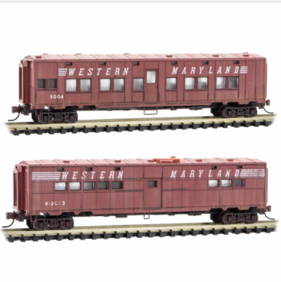 N Scale - Micro-Trains - 993 05 570 - Mixed Freight Consist, North America, Transition Era - Western Maryland - 2-Pack