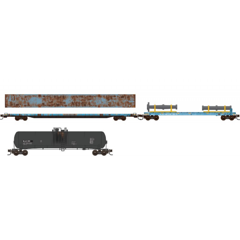 N Scale - Micro-Trains - 993 02 020 - Mixed Freight Consist, North America, Modern - NASA - 3-Pack
