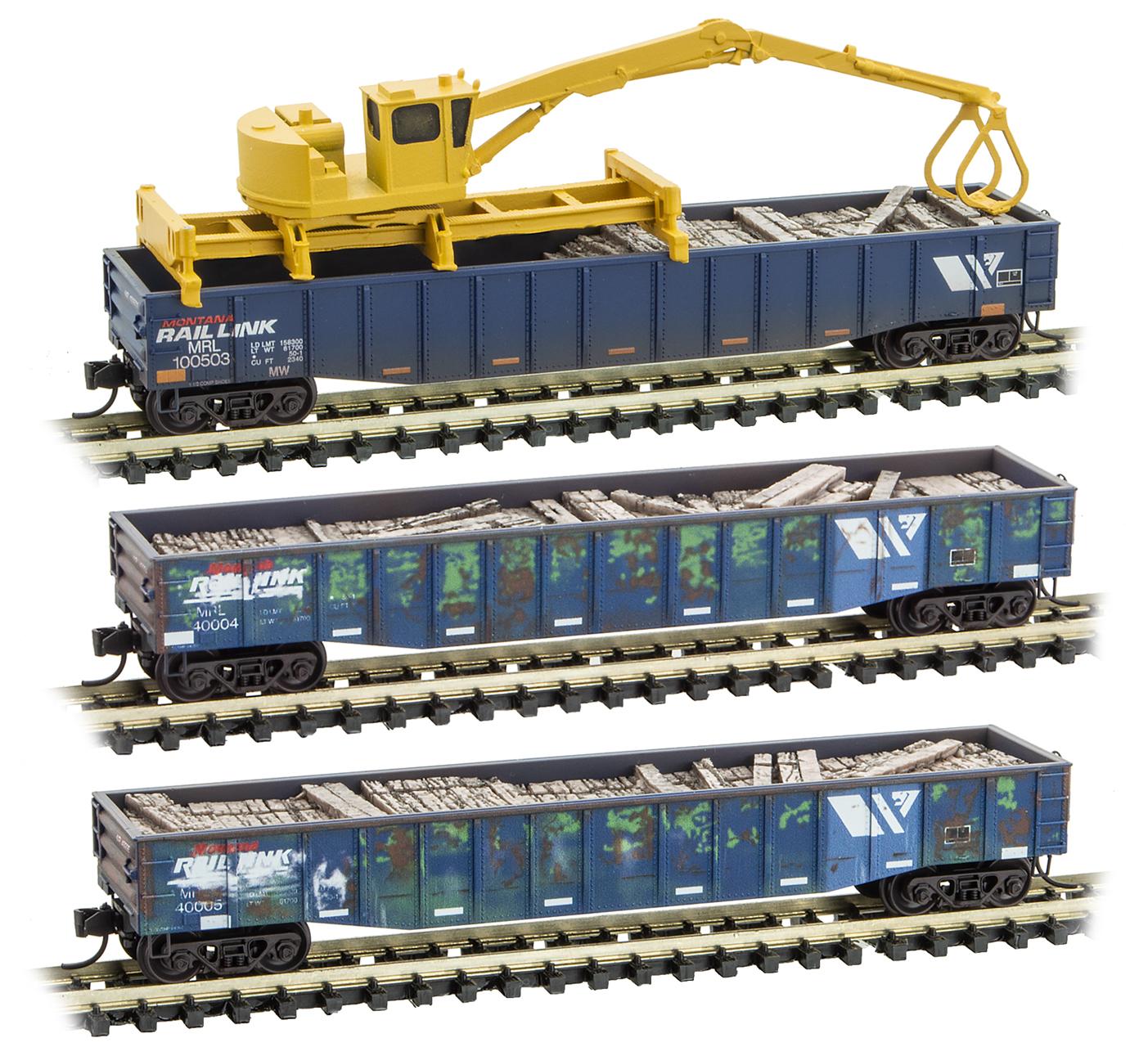 N Scale - Micro-Trains - 993 02 030 - Maintenance of Way Equipment - Montana Rail Link - 3-Pack