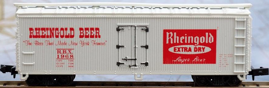 N Scale - Third Rail Graphics - 210-3 - Reefer, Ice, Wood - Rheingold Brewing Company - 1968