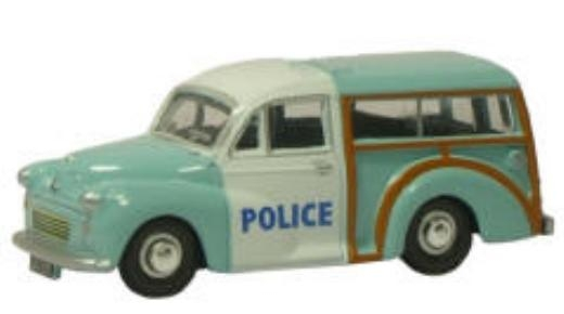 N Scale - Oxford Diecast - NMMT004 - Automobile, Morris Minor - Police Dept - LDA 233D