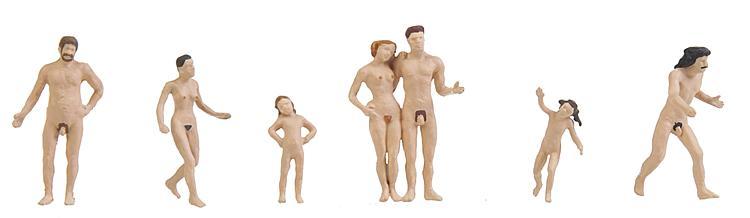 N Scale - Faller - 155349 - People - Nudists