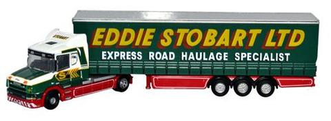 N Scale - Oxford Diecast - NTCAB001 - Truck, Scania, Tractor-Trailer - Eddie Stobart - S777 ESL