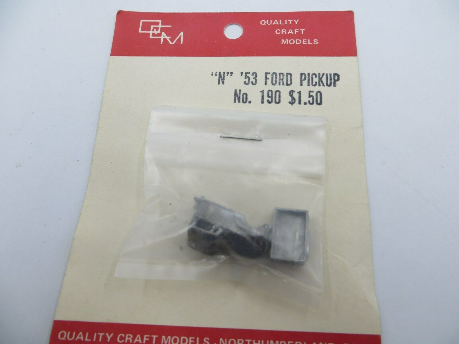 N Scale - Quality Craft Models - 190 - Truck, Ford F-Series - Undecorated
