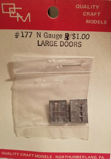 N Scale - Quality Craft Models - 177 -  Doors - Undecorated