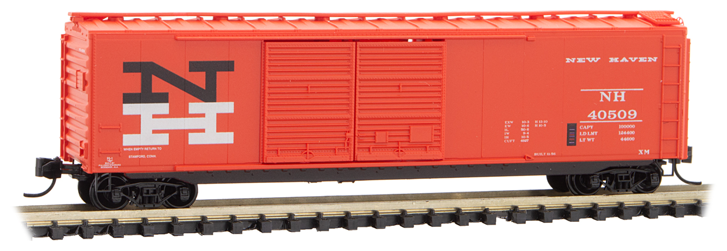 N Scale - Micro-Trains - 034 00 460 - Boxcar, 50 Foot, PS-1 - New Haven - 40509