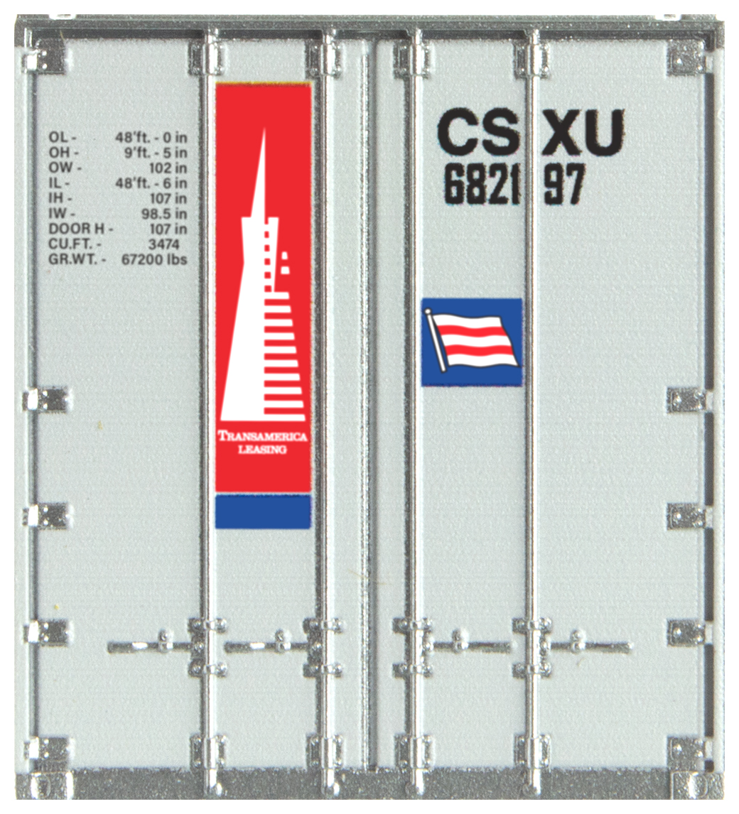 N Scale - Micro-Trains - 468 00 161 - Container, 48 Foot - Transamerica Transportation - 682197