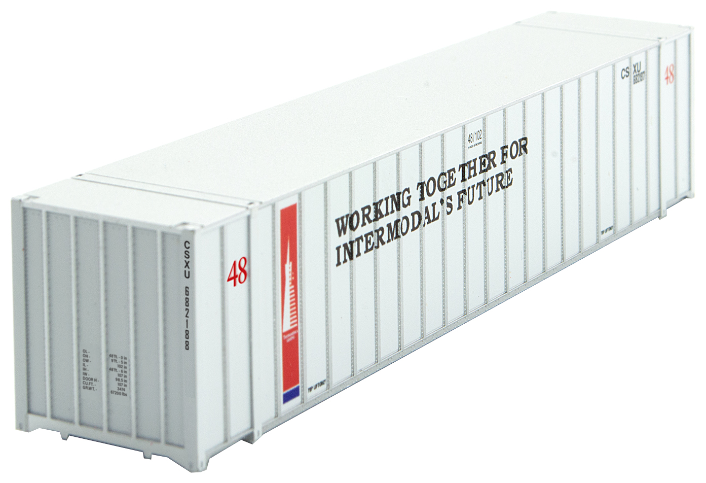 N Scale - Micro-Trains - 468 00 162 - Container, 48 Foot - Transamerica Transportation - 682188
