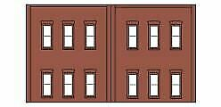 N Scale - Design Preservation Models - 60122 - Two story wall structure - Undecorated