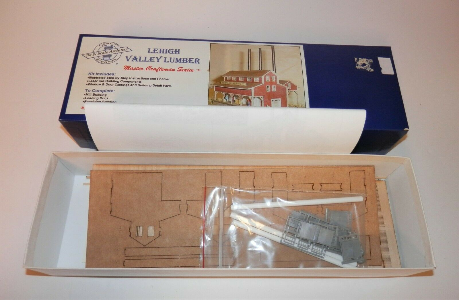 N Scale - N Scale Architect - 799L VL - Lumber Mill - Industrial Structures - Lehigh Valley Lumber