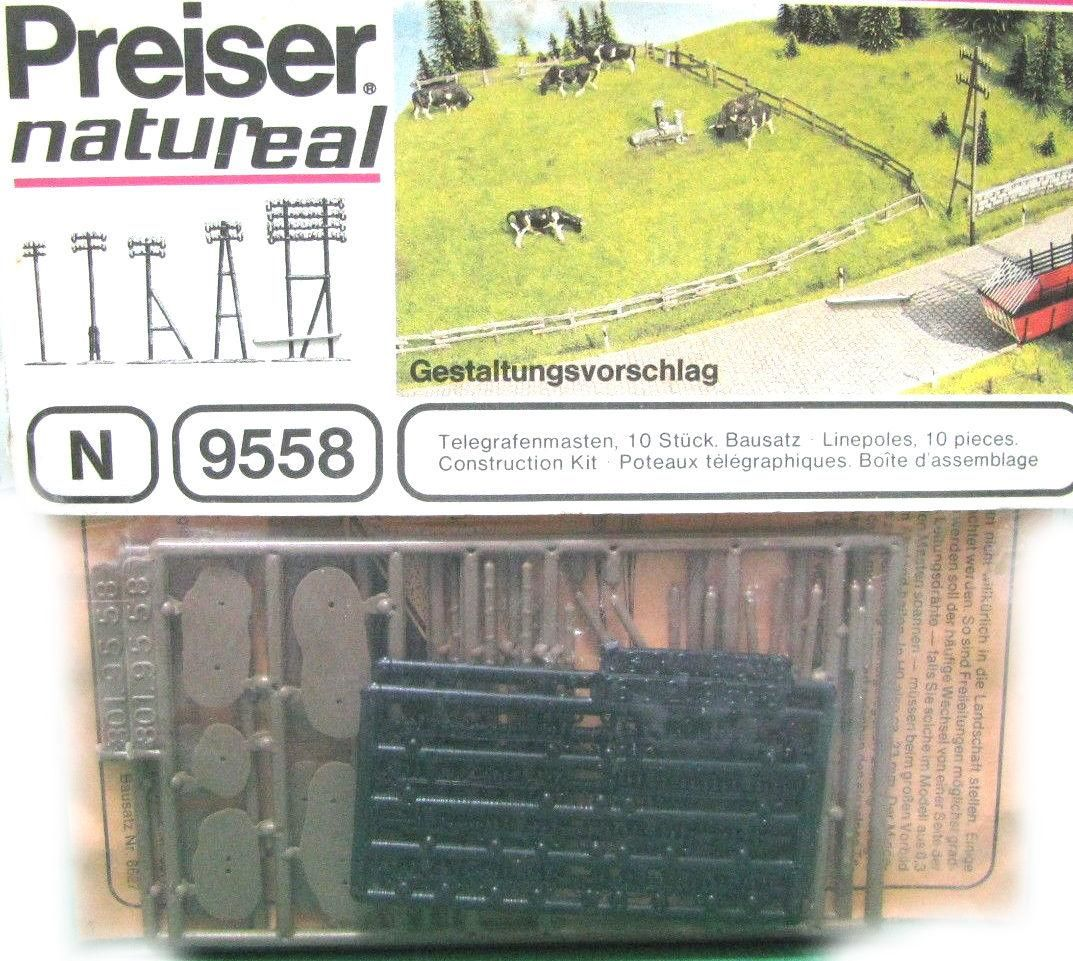 N Scale - Preiser - 9558 - Undecorated - Linepoles