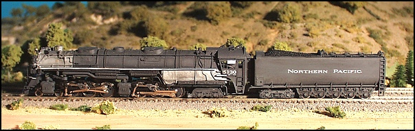 N Scale - GHQ Models - 55012 - Passenger Train, Steam, North American, Transition - Northern Pacific - Northern Pacific Z-8 Challenger Conversion Kit