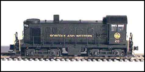 N Scale - GHQ Models - 55028 - Locomotive, Diesel Alco T-6 Switcher - Norfolk & Western - Norfolk & Western T-6 Switcher Conversion Kit