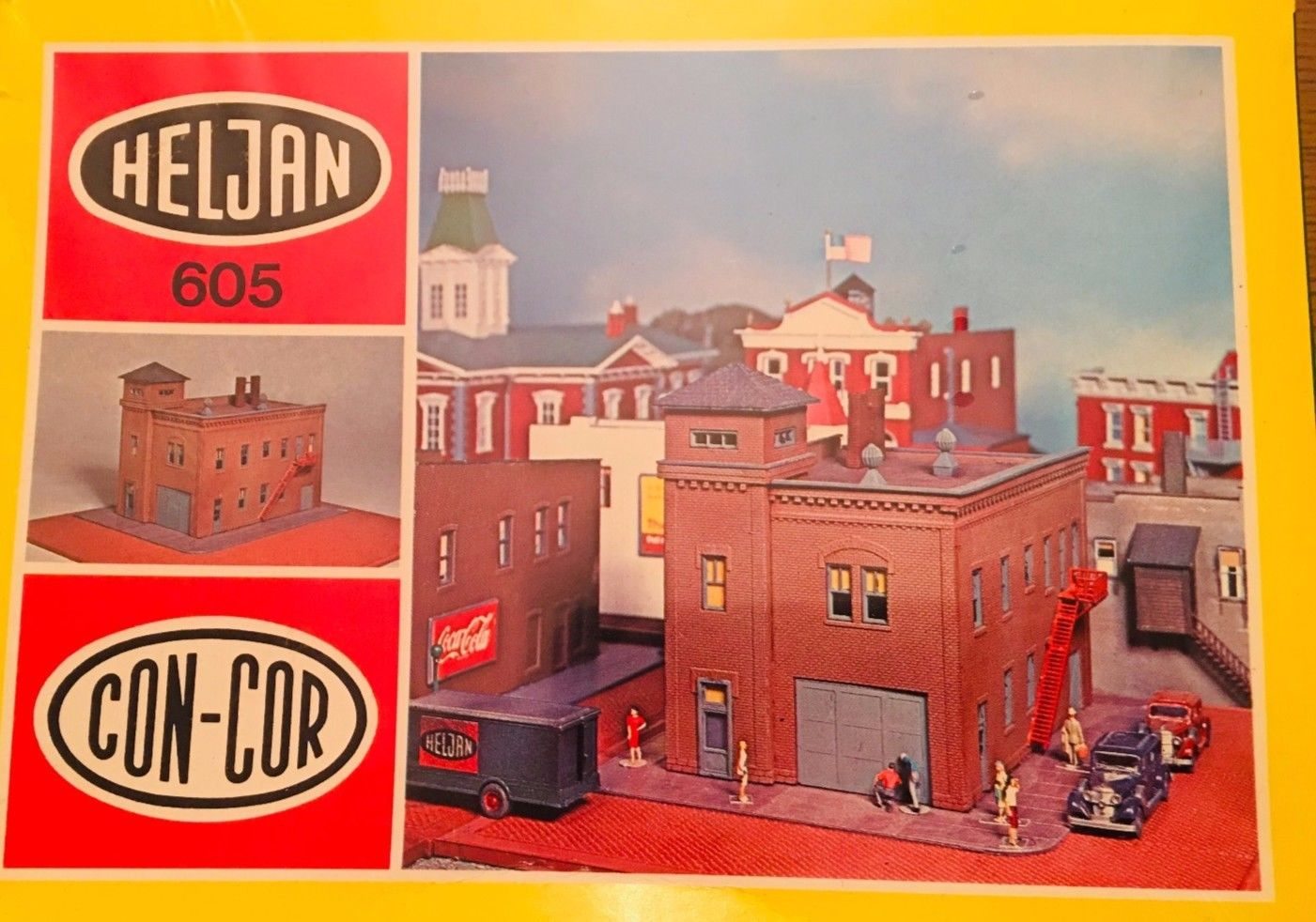 N Scale - Heljan - b605 - Firehouse - Residential Structures - Firehouse