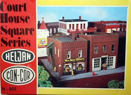 N Scale - Heljan - b602 - Courthouse - Commercial Structures - Courthouse Square