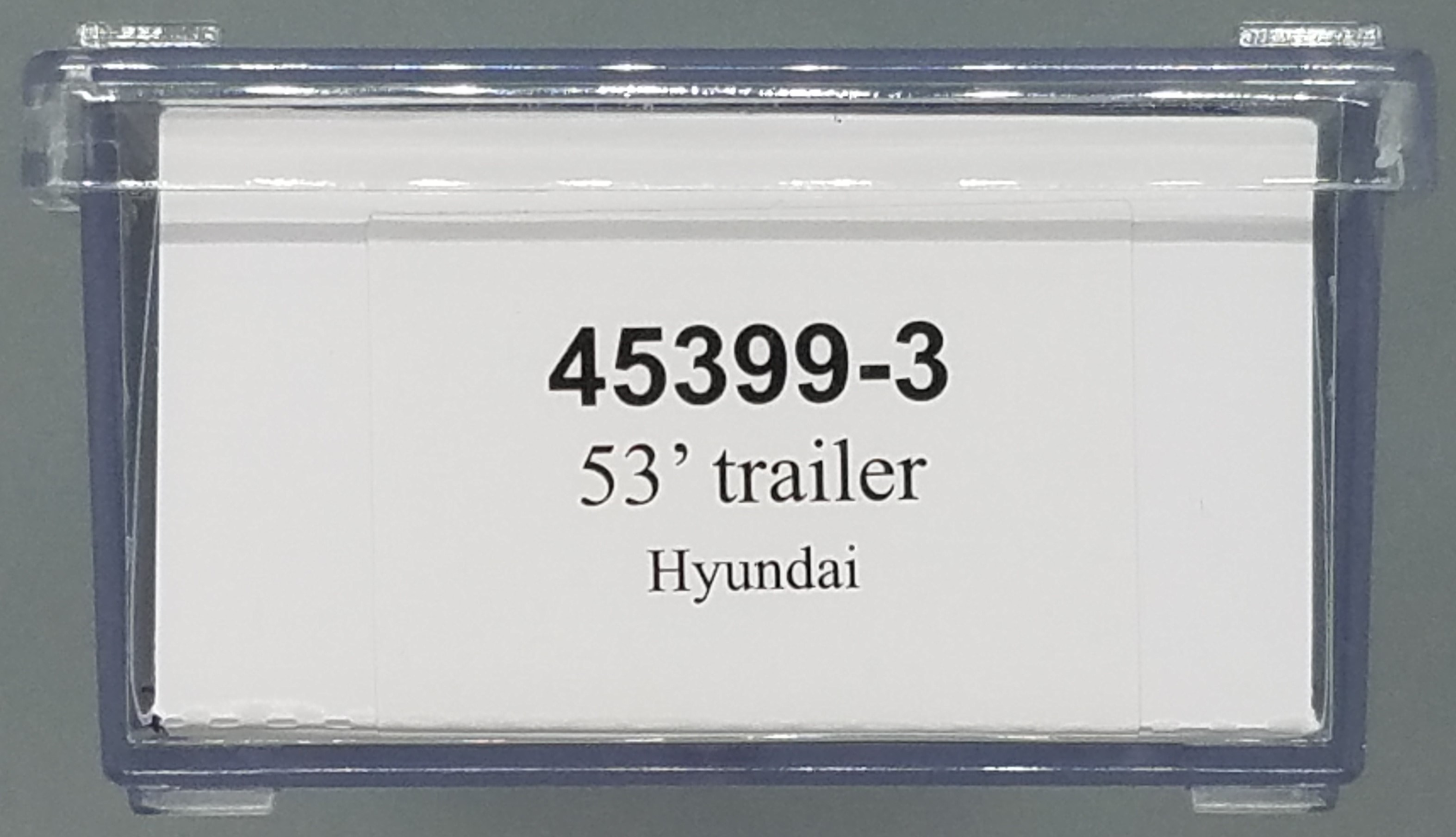 N Scale - Trainworx - 45399-3 - Trailer, 53 Foot, Box - Painted/Unlettered