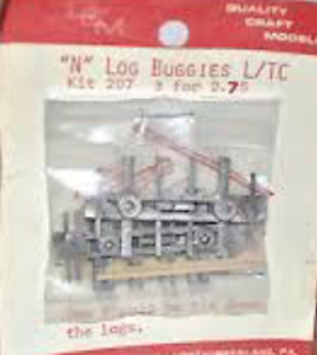 N Scale - Quality Craft Models - 207 - Log Buggies - Undecorated