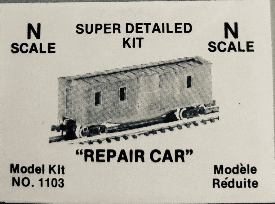 N Scale - Dimi-Trains - 1103 - Maintenance of Way Equipment, North American, Transition Era - Undecorated - Repair Car
