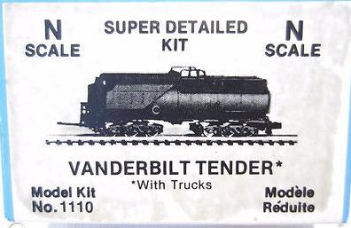 N Scale - Dimi-Trains - 1110 - Tender, Steam - Undecorated - Vanderbilt Tender