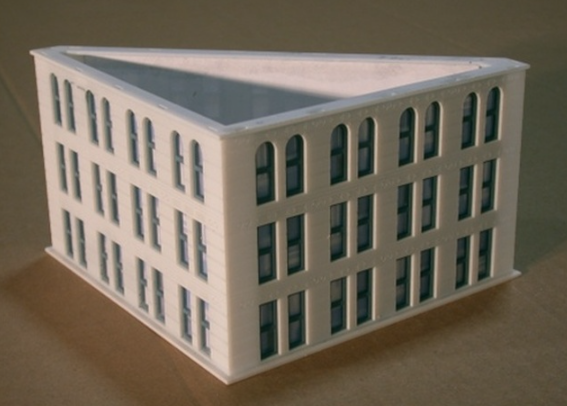 N Scale - Custom Model Railroads - 014 -  Office Building - Commercial Structures - The Gas and Electric Building Add-On