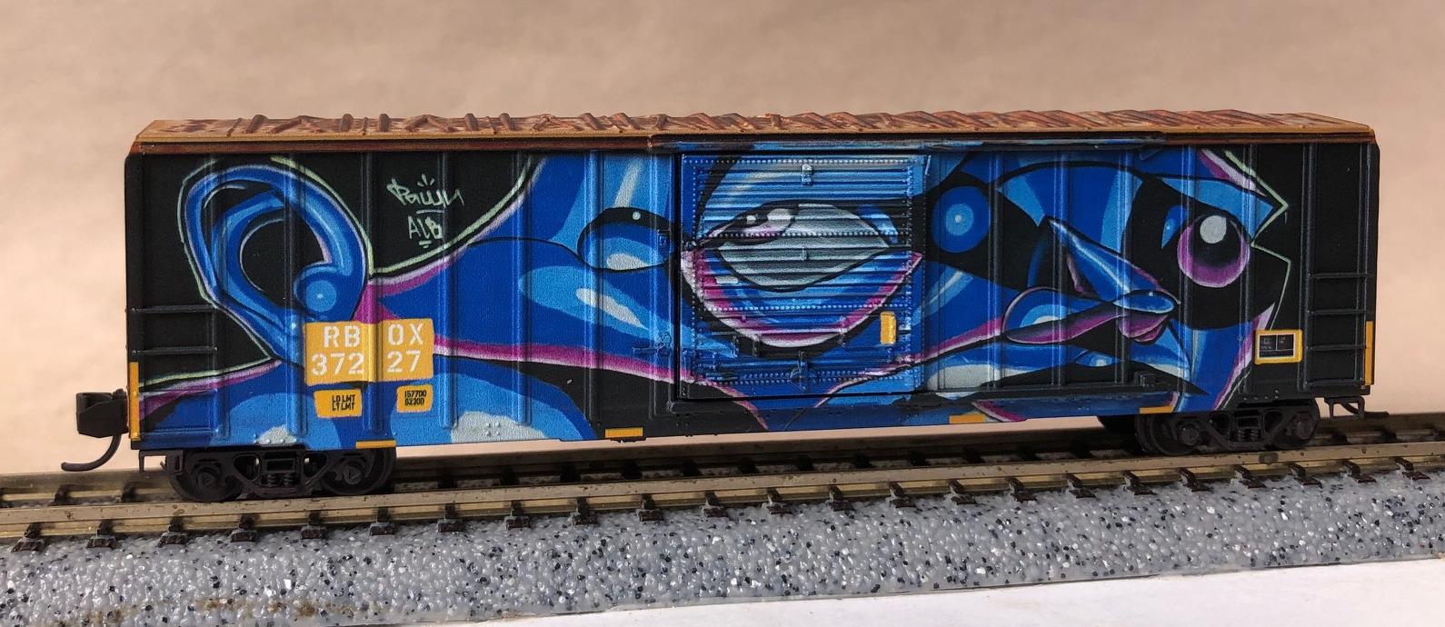 N Scale - Micro-Trains - 025 44 019 - Boxcar, 50 Foot, FMC, 5077 - RailBox - 37227