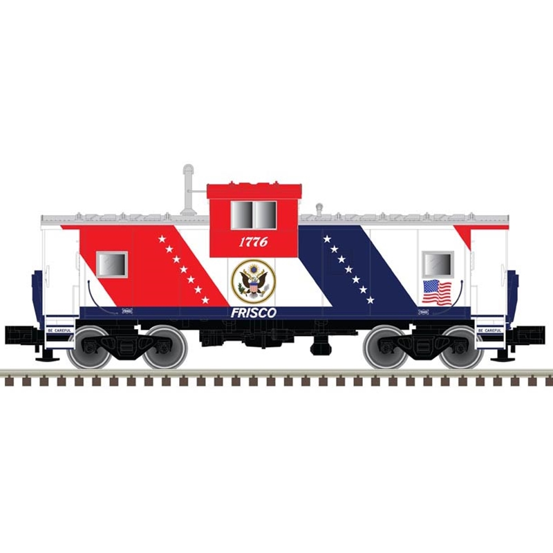 N Scale - Atlas - 50 004 129 - Caboose, Cupola, Steel Extended Vision - Frisco - 1776