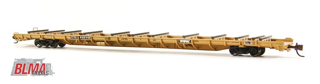 N Scale - BLMA - 13044 - Flatcar, ACF-F89-J - Trailer Train - 602500