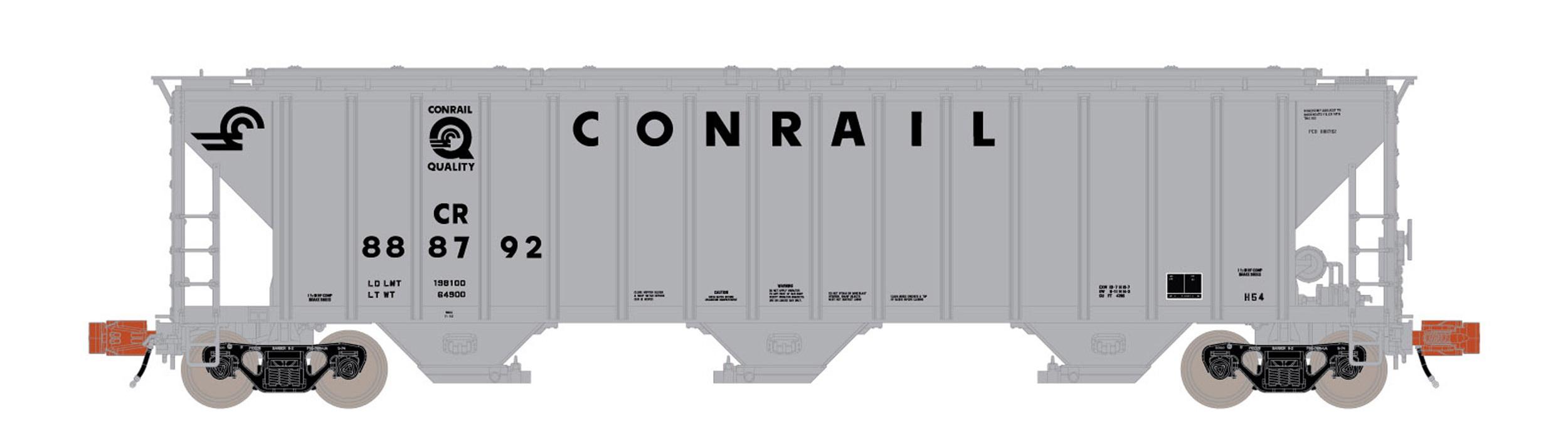 N Scale - ScaleTrains.com - SXT31820 - Covered Hopper, 3-Bay, PS-2 - Conrail - 888792