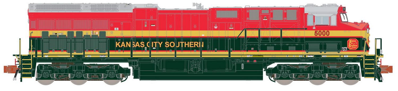 N Scale - ScaleTrains.com - SXT32046 - Locomotive, Diesel, GE GEVO - Kansas City Southern - 5001