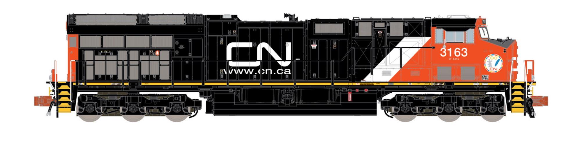 N Scale - ScaleTrains.com - SXT32028 - Locomotive, Diesel, GE GEVO - Canadian National - 3174