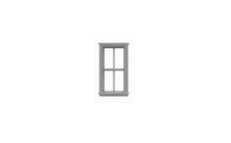 N Scale - Tichy Train Group - 2509 - Double Hung Windows - Painted/Unlettered - Double Hung Windows