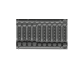 N Scale - Tichy Train Group - 2525 - Steel Splice Plates - Painted/Unlettered - Splice Plates