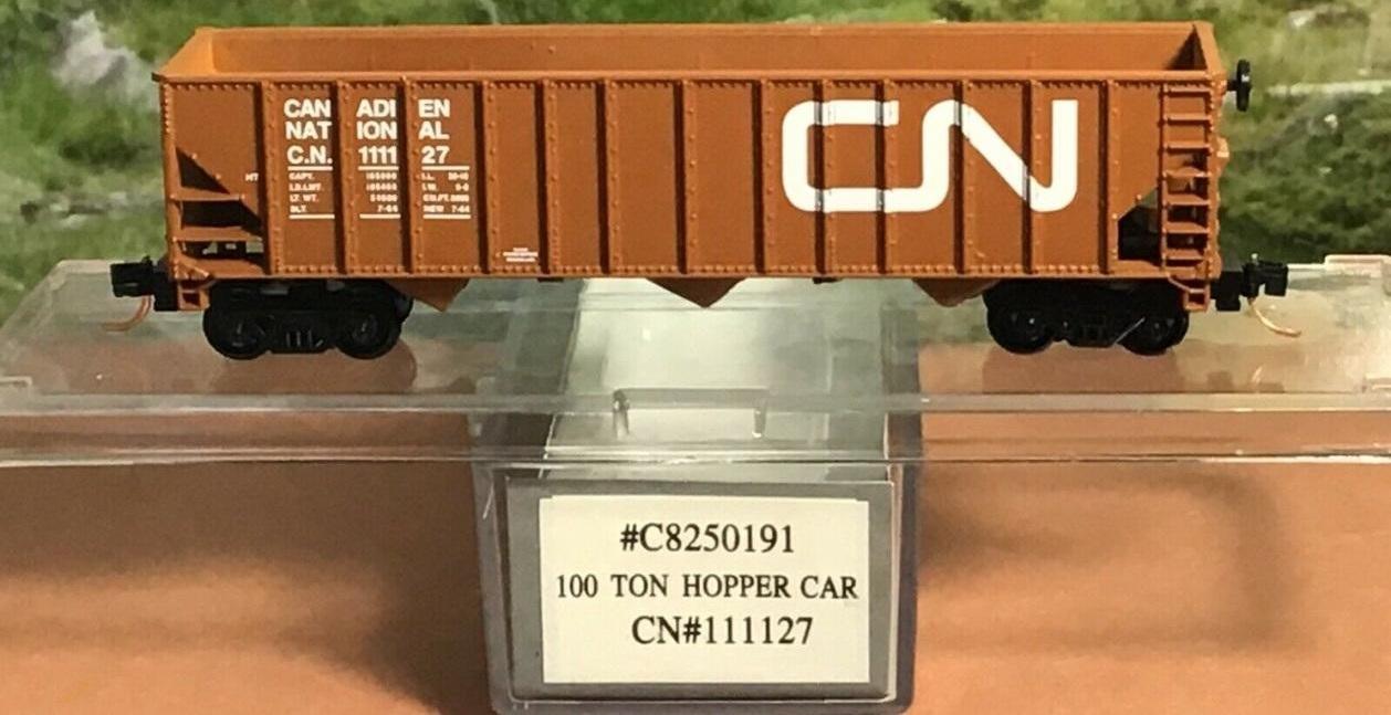 N Scale - Life-Like - C8250191 - Open Hopper, 3-Bay, 100 Ton - Canadian National - 111127