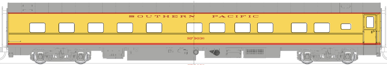 N Scale - RailSmith - 3003193-1 - Passenger Car, Lightweight, Pullman, Sleeper 10-6 - Southern Pacific - 9036
