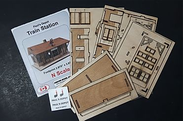 N Scale - Osborn Models - RRA-3119 - General Purpose Station - Railroad Structures
