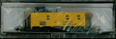 N Scale - Life-Like - C8250091 - Caboose, Cupola, Offset 8-Window - Ontario Northland - 110