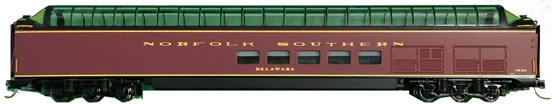 N Scale - Centralia Car Shops - CCS71SR16-397 - Passenger Car, Lightweight, Pullman Superdome - Norfolk Southern - 24