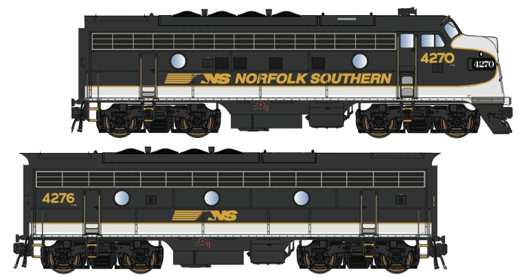 N Scale - Lowell Smith - OCS NS Power Set 2 - Locomotive, Diesel, EMD F7 - Norfolk Southern - 4270, 4276