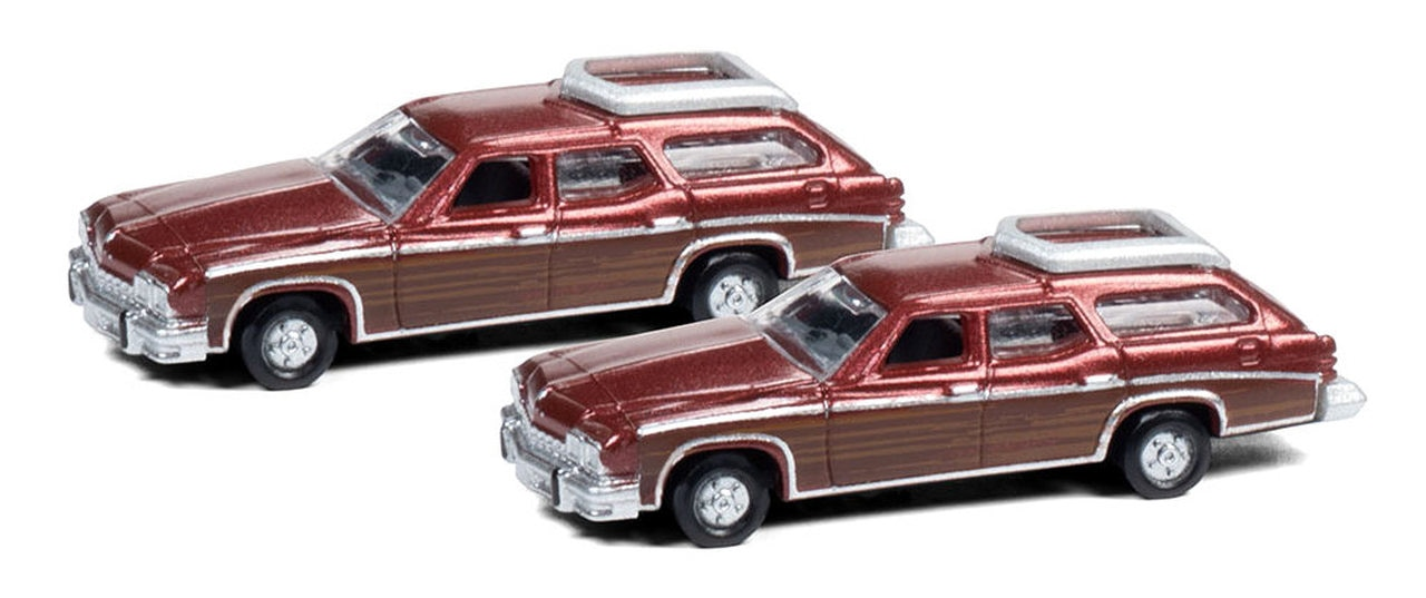 N Scale - Classic Metal Works - 50412 - Automobile, Buick, Estate Wagon - Painted/Unlettered - Buick 1974 Estate Station Wagon