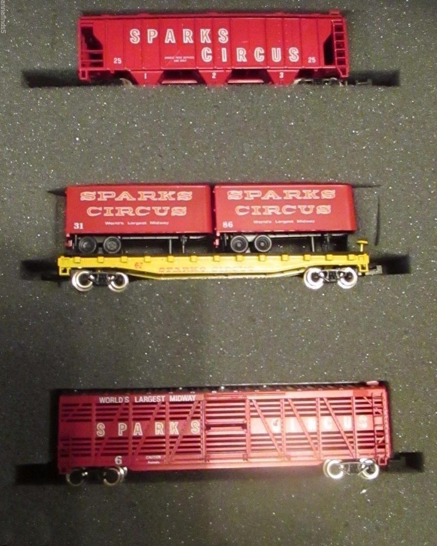 N Scale - Ak-Sar-Ben - Circus #8 - Mixed Freight Consist - Sparks Circus - 6, 25, 62