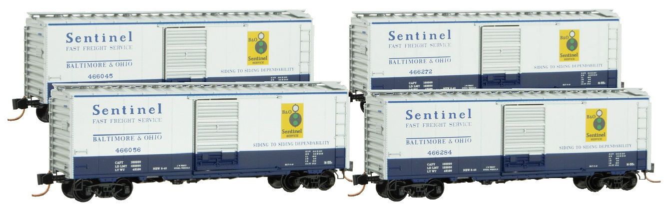 N Scale - Micro-Trains - 020 53 256 - Boxcar, 40 Foot, PS-1 - Baltimore & Ohio - 466272