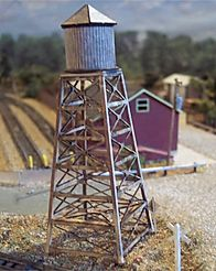 N Scale - Osborn Models - RRA-3066 - Wood Water Tower - Railroad Structures - Water Tower