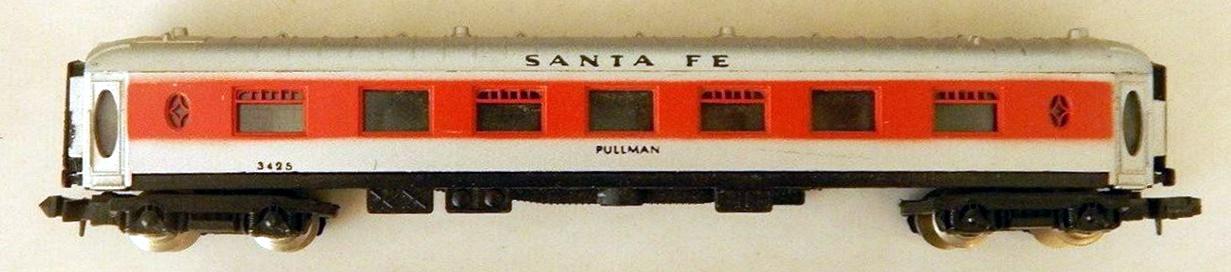 N Scale - Lima - 383 - Passenger Car, CIWL, Pullman - Santa Fe - 3425