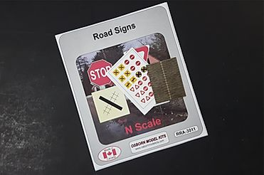 N Scale - Osborn Models - RRA-3011 - Signage,  Modern Road Signs - Undecorated -  Road Signs