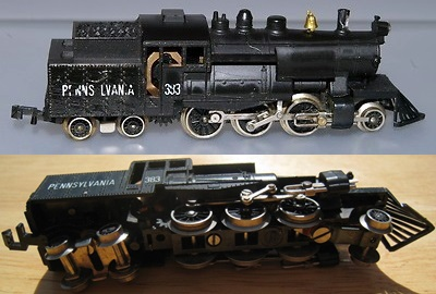N Scale - Lima - 253 - Locomotive, Steam, 2-6-4T - Pennsylvania - 383