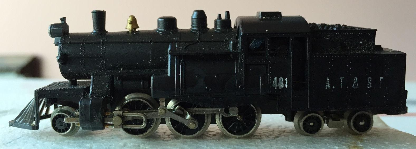 N Scale - Lima - 254 - Locomotive, Steam, 2-6-4T - Santa Fe - 481