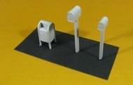 N Scale - Showcase Miniatures - 557 - Mailbox, Postal Deposit Box - Undecorated - Mailbox Set