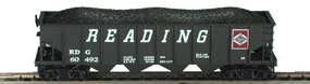 N Scale - Bowser - 37423 - Hopper, 4-Bay, 70 Ton - Reading - 60492