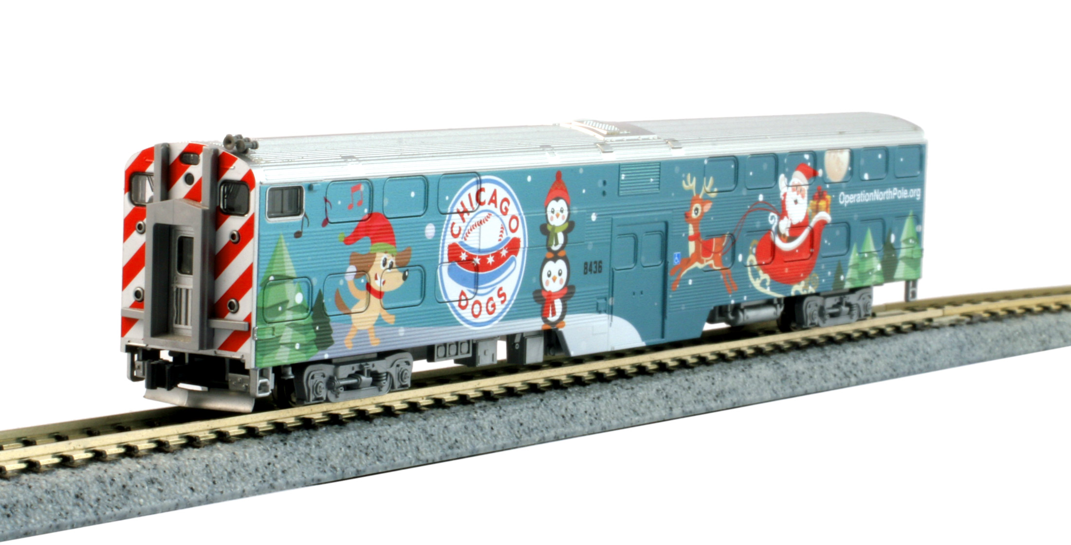 N Scale - Kato USA - 106-2017-F - Passenger Train, Diesel, North American, Modern - Operation North Pole - 8436