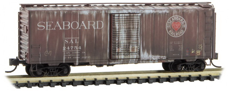 N Scale - Micro-Trains - 020 51 641 - Boxcar, 40 Foot, PS-1 - Seaboard Air Line - 24754